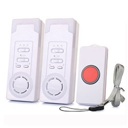 Wireless Emergency Care Alarm Call Button Alert System -500+ft Operating Range (2 in 1) [EA013]
