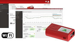 Wi-Fi Temperature & Environment Monitor, Alert, Log, Graph, Cloud, Map - 1 250px