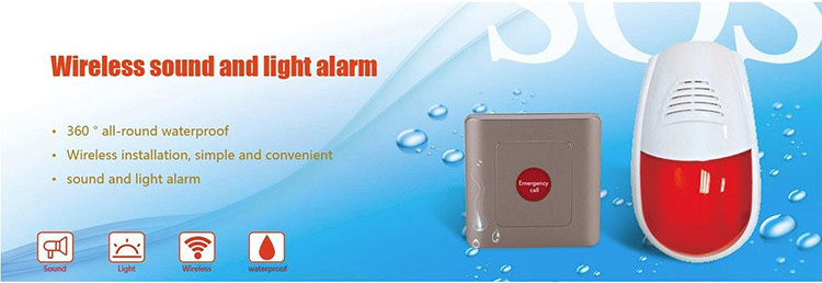 Water Resistance Public Toilet Sound and Light Alarm System - 1