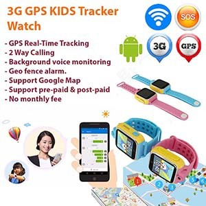 GPS Tracker Watch for Kids for Singapore & any part of the world [GPS008W]