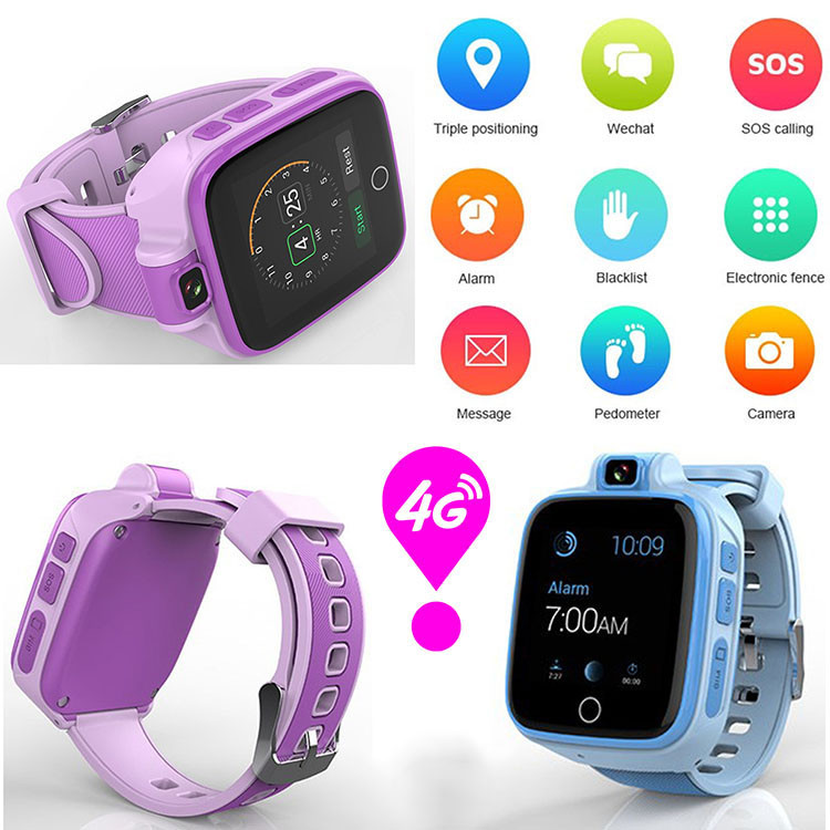 Otroški GPS Tracker Watch, 4G, SOS klic v sili z video klicem (GPS022W) - 02S