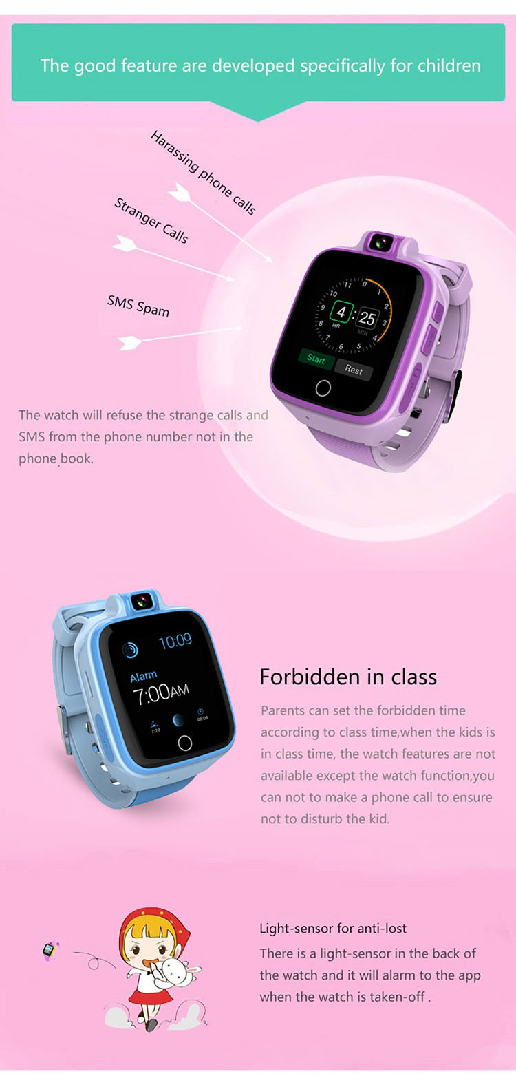 Kids GPS Tracker Watch, 4G, SOS Call Emergency with Video Call (GPS022W) - 04S
