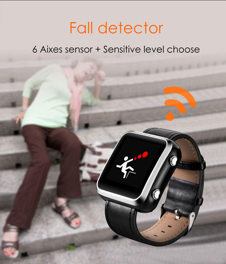 Elderly Health Monitoring GPS Tracker Watch - 4