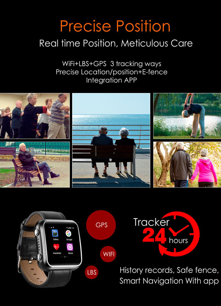 Elderly Health Monitoring GPS Tracker Watch - 6