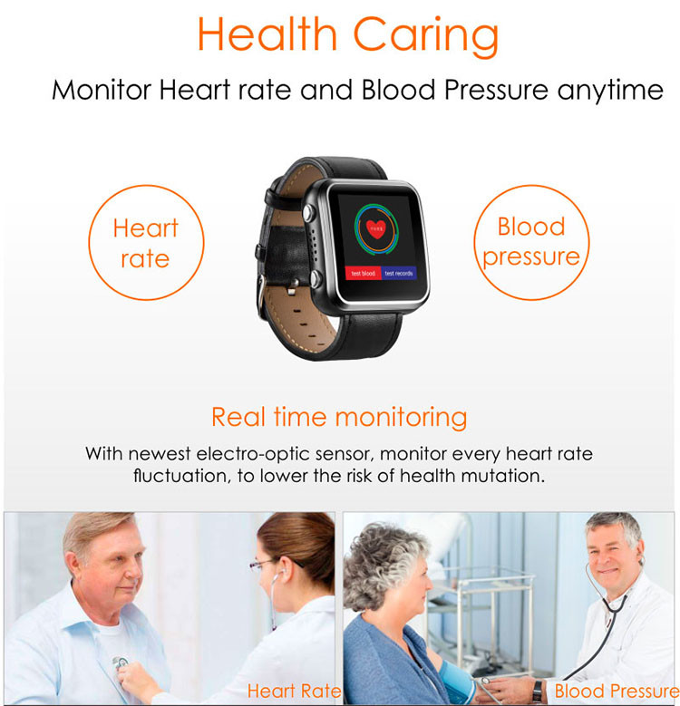 Elderly Health Monitoring GPS Tracker Watch - 7