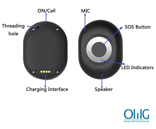 GPS040D - iHelp2.0 Стари лица Деменција 4G Keychain за следење на GPS - нов интерфејс