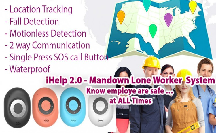 iHelp version 2 – Man Down System – Lone Worker Employee Safety Solution