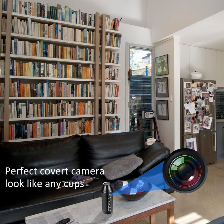 720P पोर्टेबल लपलेले वायरलेस कप कॅमेरा - 2