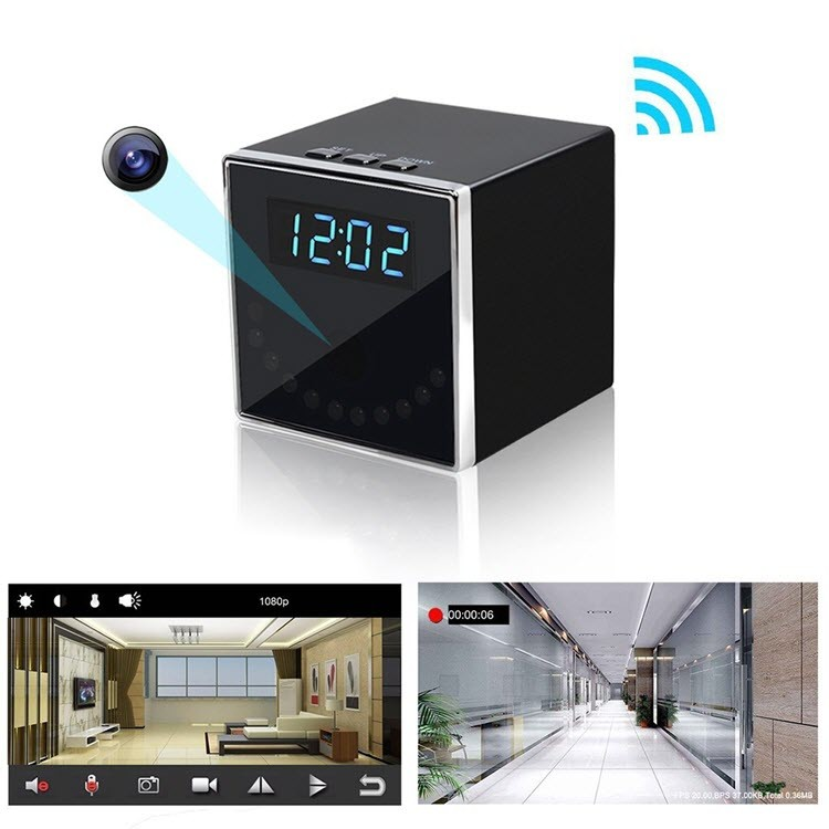 HD 1080P Clock Hidden Camera (Cube WiFi) - 2