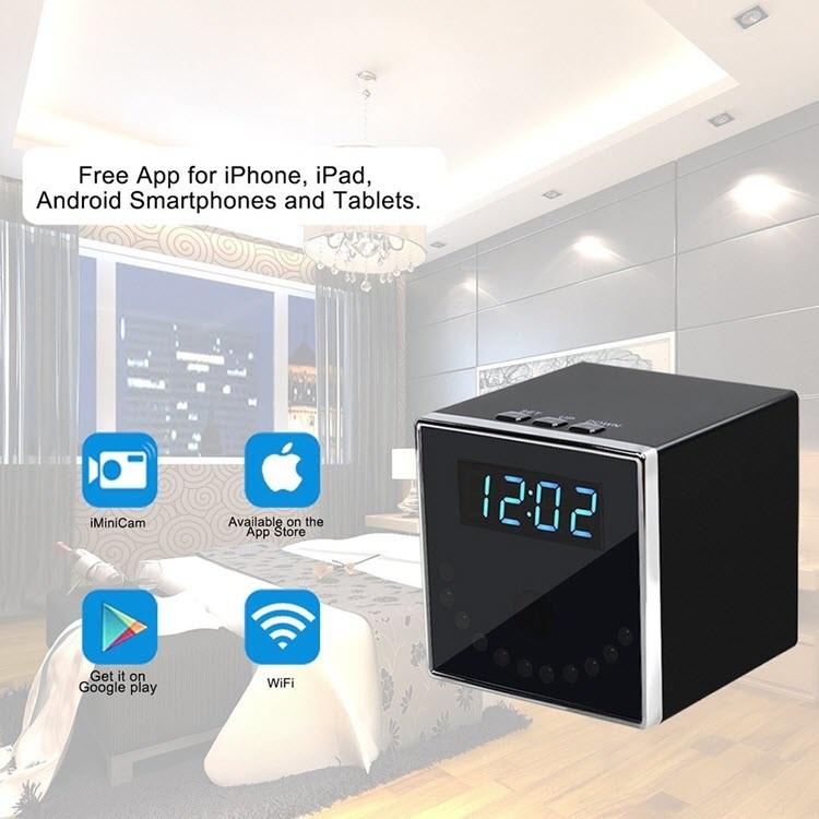I-HD 1080P Clock Ikhamera efihliweyo (iCube WiFi) - i-4