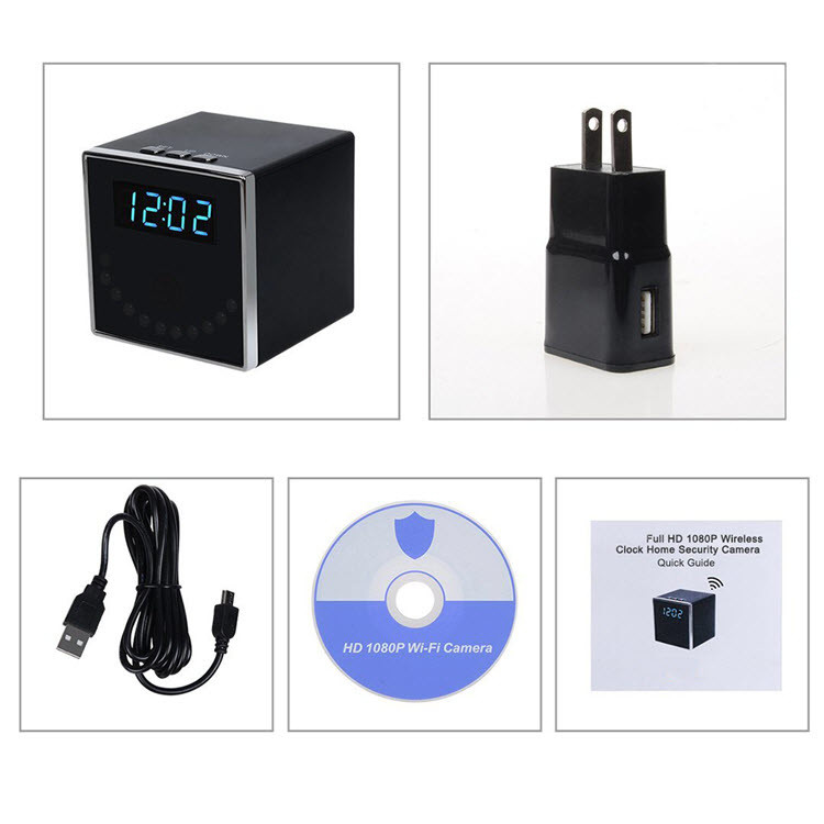 HD 1080P Clock Hidden Camera (Cube WiFi) - 7