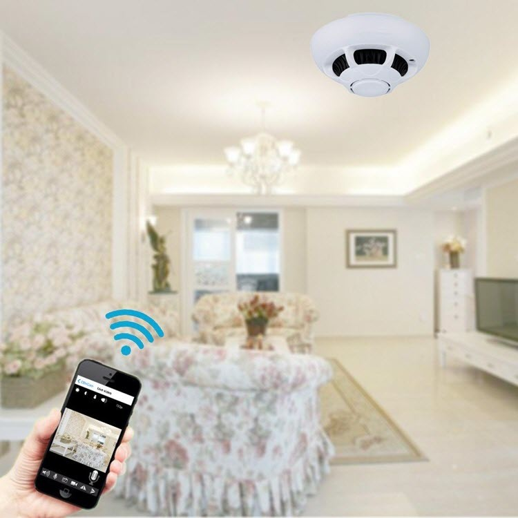 Hidden Spy WiFi Smoke Detector Camera - 3