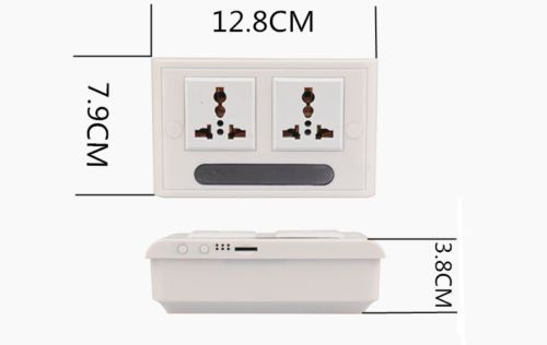 Mini 1080P WIFI HD SPY DVR Hidden IP Camera Real Wall Socket Video Recorder Cam - 3