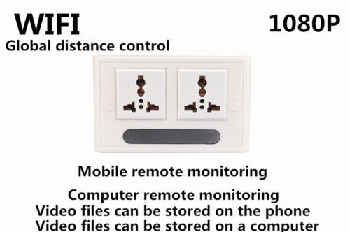 Mini 1080P WIFI HD SPY DVR Hidden IP Camera Real Wall Socket Video Recorder Cam - 5