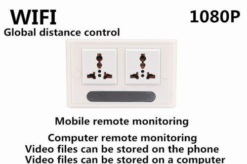 Mini 1080P WIFI HD SPY DVR Hidden IP Camera Real Wall Socket Video Recorder Cam - 5