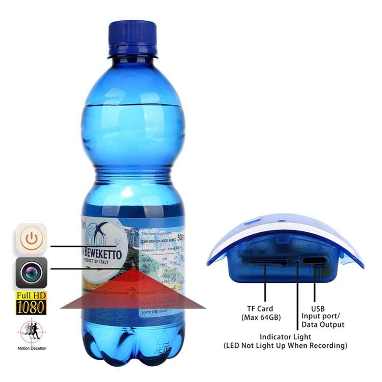 Portable Real Water Bottle Hidden Spy Camera - 1
