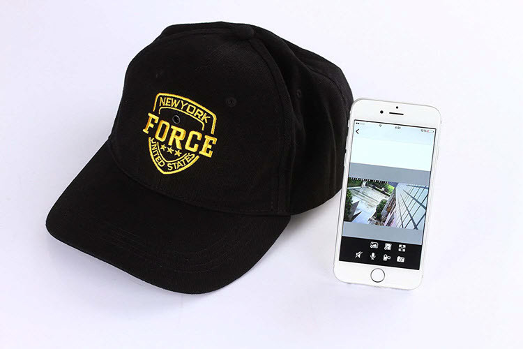 WIFI Spy Hat -valokamera MINI Covert Hat Cap Videokamera - 3
