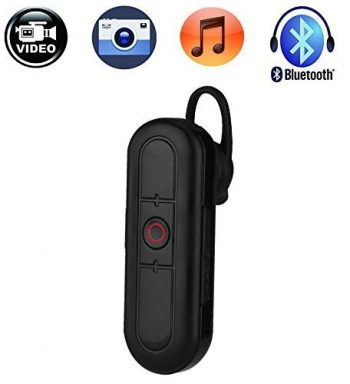 Ceamara Video Hidden Headset Bluetooth Hidden, Cárta TF Max 32G, Obair Battery 80min - 2