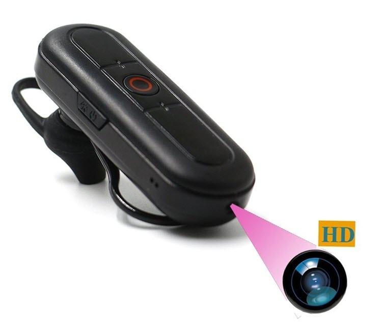 Ceamara Video Hidden Headset Bluetooth Hidden, Cárta TF Max 32G, Obair Battery 80min - 3