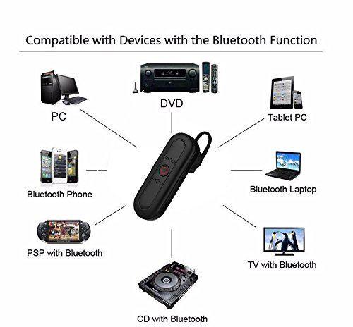 Ceamara Video Hidden Headset Bluetooth Hidden, Cárta TF Max 32G, Obair Battery 80min - 7