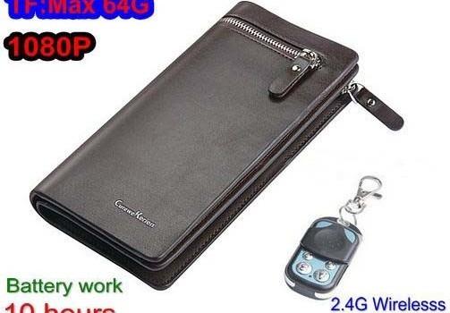 Handbag Camera, SD Card Max 32GB, 10hours, Wireless Remote Control - 1