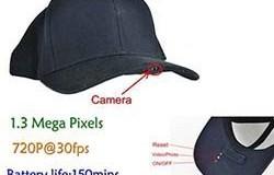 SPY Hat Kamera DVR, 1.3 Mega-pikselit, H.264, SD-kortti Max 32G, pitkä akun käyttöikä 150min - 1 250px