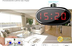 SPY061 - Wifi Alarm Clock Hidden Camera 330 degree Rotatable Lens for Home - 1 250px