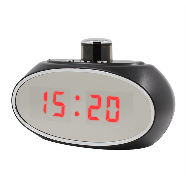 SPY061 - Wifi Alarm Clock Hidden Camera 330 degree Rotatable Lens for Home - 4