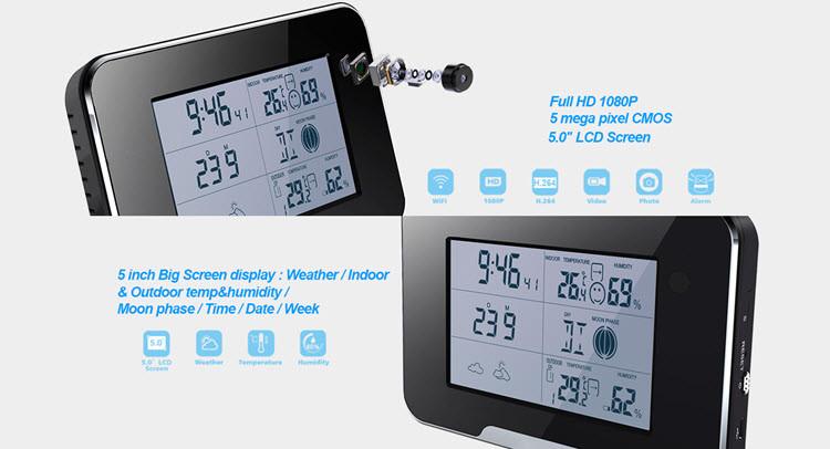 I-SPY062 - I-WIFI HD 1080P I-Camera Security Camera Ikhamera, Inkxaso ye-SD Card 64GB - 4