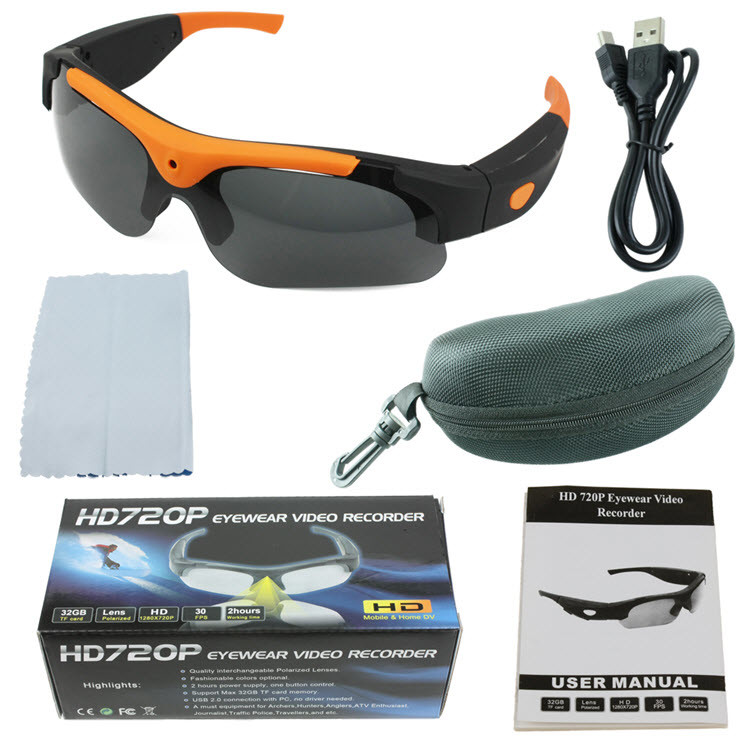 Spy Sunglasses Video Camera - 5MP, 1080P HD - 5