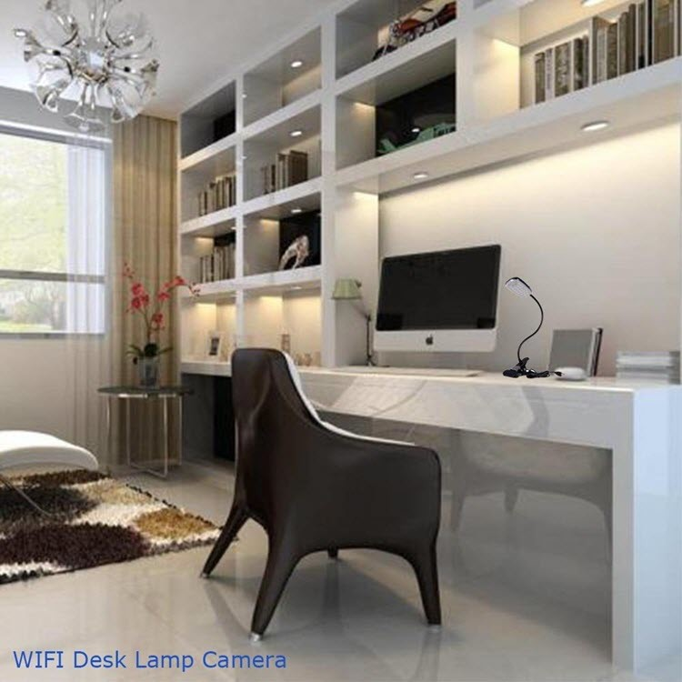 WIFi HD Hidden Camera Desk, Table Lamp, Night Vision Video - 5