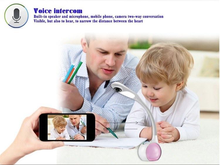 میز کار فای، دوربین لامپ لامپ - نمایش از راه دور - برای نظارت بر کودکان و یا کودک - 5
