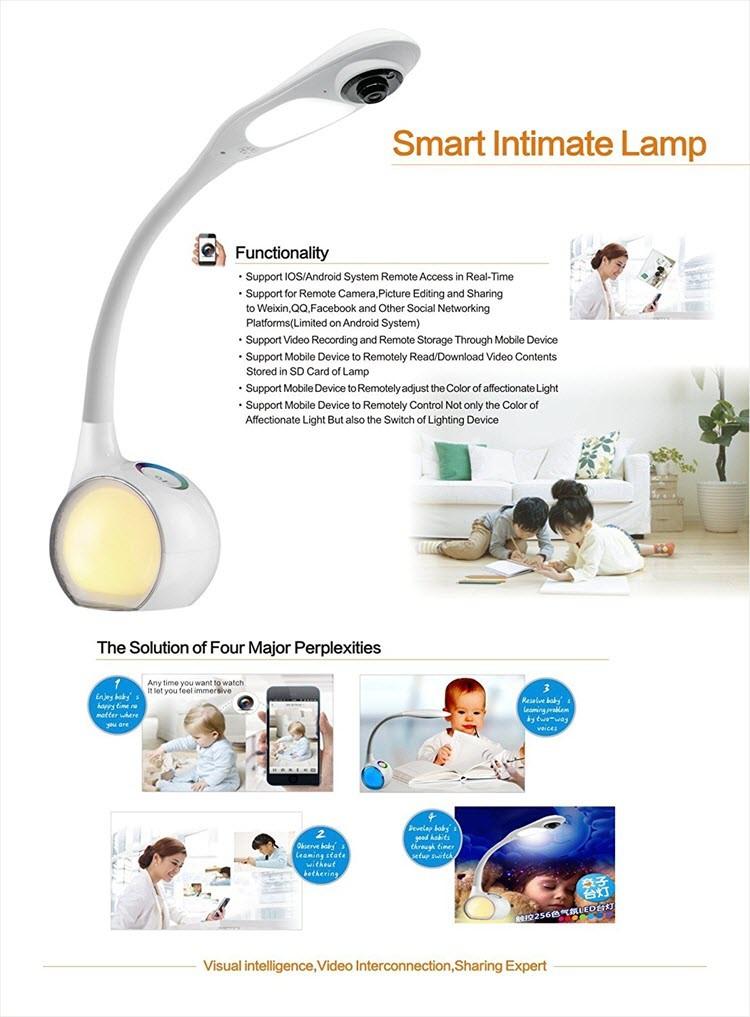 میز کار فای، دوربین لامپ لامپ - نمایش از راه دور - برای نظارت بر کودکان و یا کودک - 6