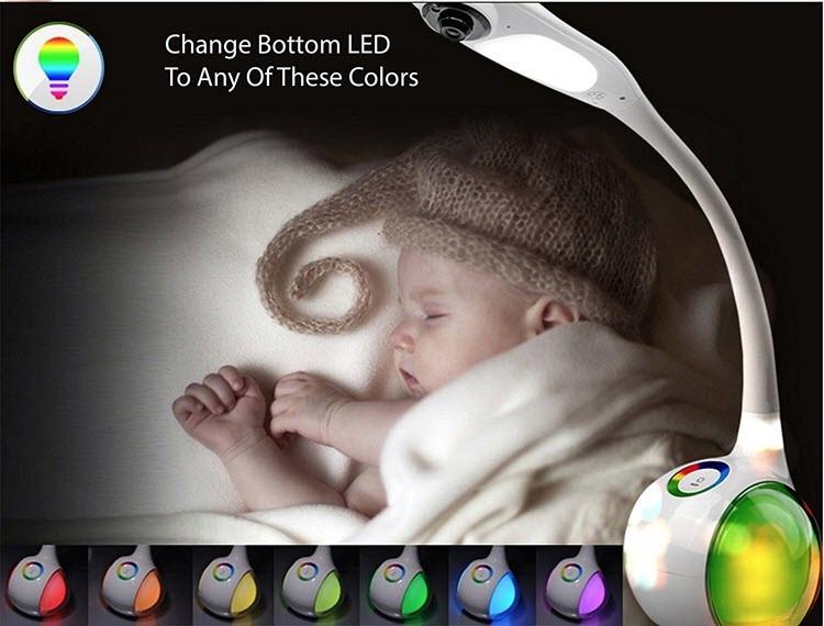 میز کار فای، دوربین لامپ لامپ - نمایش از راه دور - برای نظارت بر کودکان و یا کودک - 7