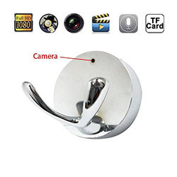 Clothes Silver Hook Design Hanger Hidden Camera (SPY087)