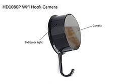 Security HD 720 WiFi Coat, Clothes Hook Hidden Camera (SPY081)
