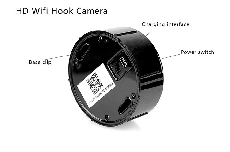 Security HD 720 WiFi Coat, Clothes Hook Hidden Camera - 2