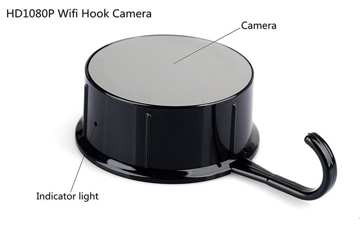 Security HD 720 WiFi Coat, Clothes Hook Hidden Camera - 5