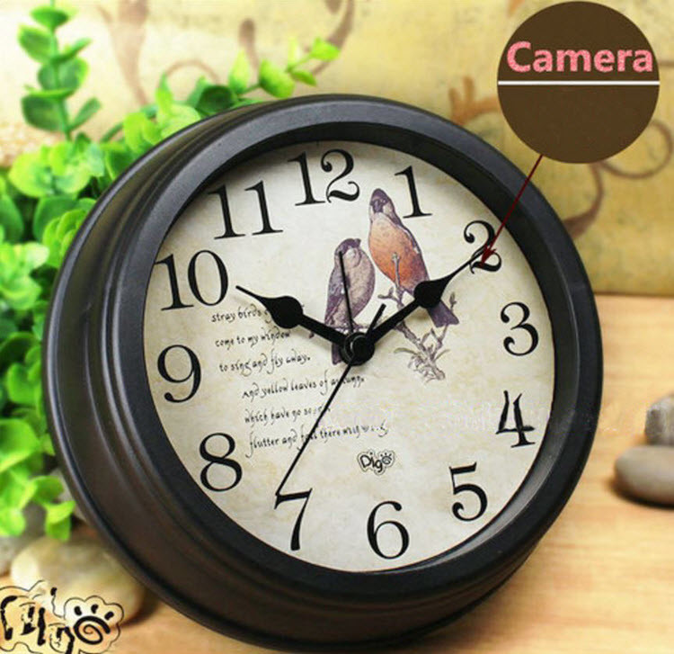 WIFI Clock Camera 1080P, TF Card, APP, Android & Iphone, 4000 battery - 3