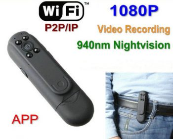 Wifi Pen Camera DVR, P2P, IP 1080P Video recorder, App Kontroll - 1