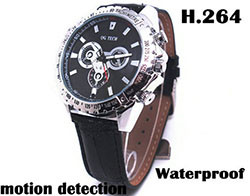 Watch Camera, 1280 x 720P, H.264 Video Format, Motion Detection, 8GB (SPY079)