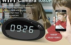 1080P WIFI Clock Camera, FHD 1080P, 158 degree wide-angle lens, H.264, Suporta 64G - 1 250px