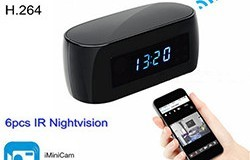 New WIFI clock camera, 12Mega pixel Camera,P2P,IP, H.264,1080p - 1 250px
