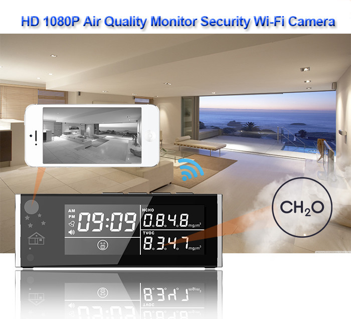 HD 1080P Air Quality Monitor Security Wi-Fi Camera - 2