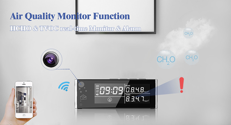 HD 1080P Air Quality Monitor Security Wi-Fi Camera - 4