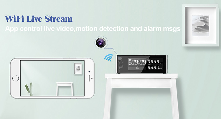 HD 1080P Air Quality Monitor Security Wi-Fi Camera - 6