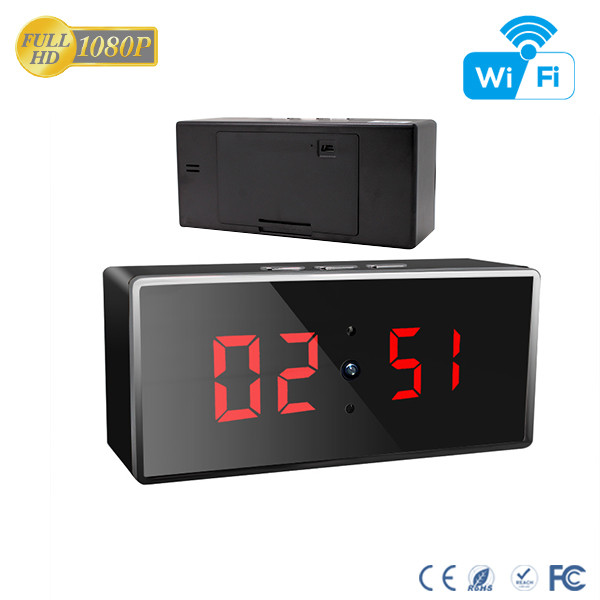 HD 1080P IR Desk Clock Wifi Camera - 4