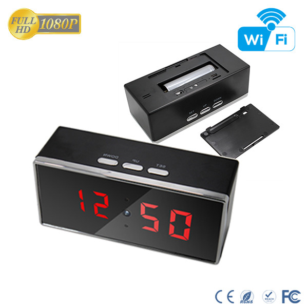 HD 1080P IR Desk Clock Wifi Camera - 5