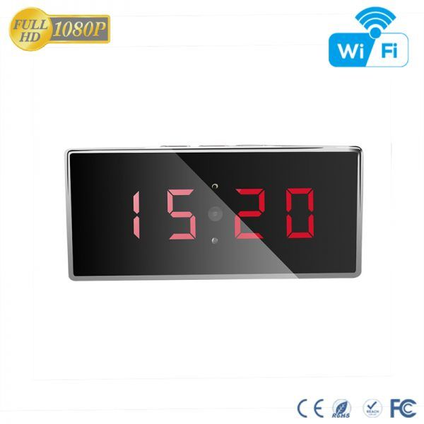 HD 1080P IR Desk Clock Wifi Camera - 6
