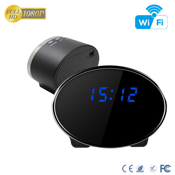 HD 1080P IR Table Clock Wi-Fi Camera - 8